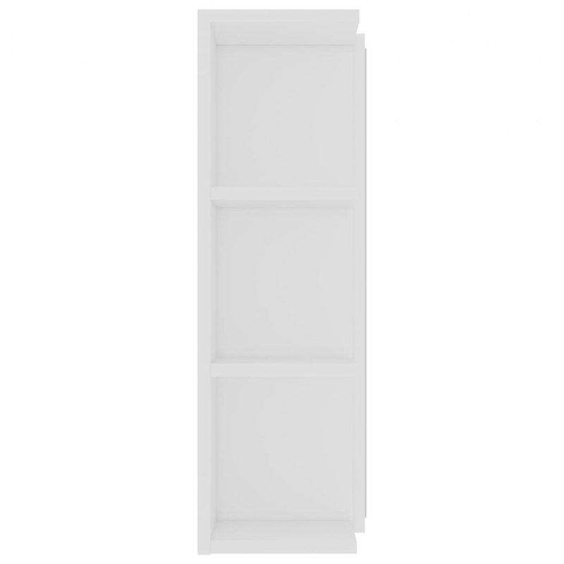 Szafka łazienkowa z lustrem, biała, 80 x 20,5 x 64 cm, płyta