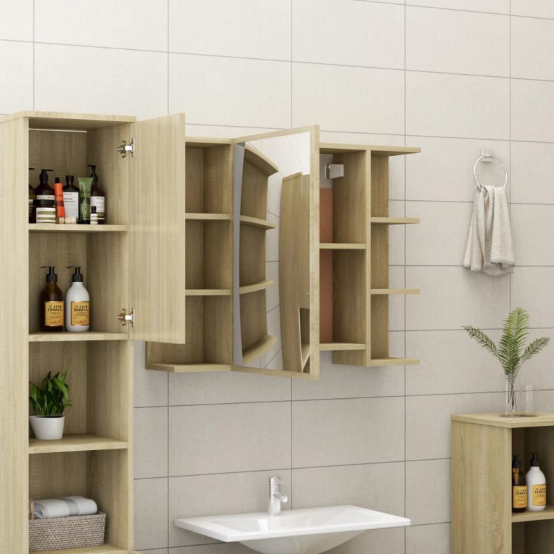 Szafka łazienkowa, dąb sonoma, 80 x 20,5 x 64 cm, płyta