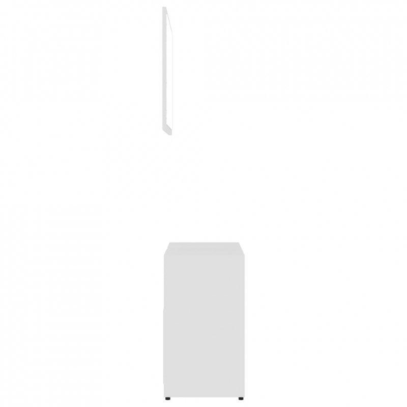 Zestaw mebli łazienkowych, biały, płyta wiórowa