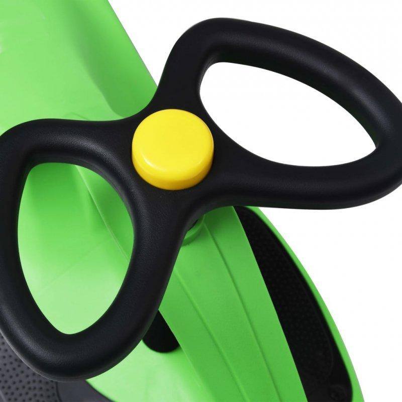 Jeździk balansowy dla dzieci, z klaksonem, zielony