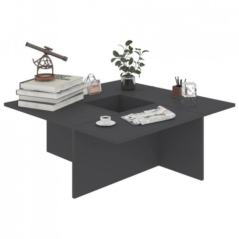 Stolik kawowy, szary, 79,5x79,5x30 cm, płyta wiórowa