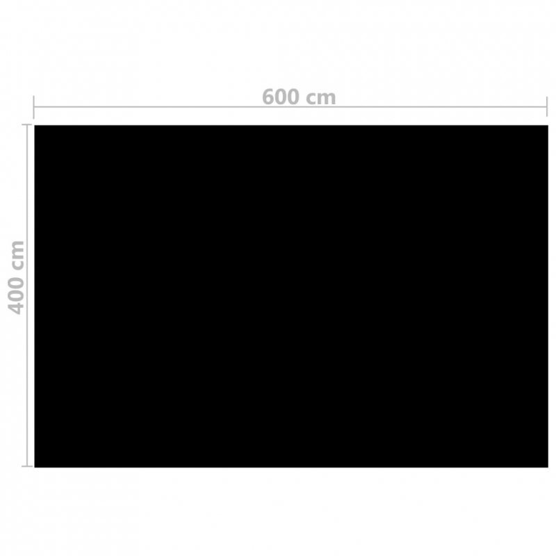 Prostokątna folia na basen, PE, czarna (6x4 m)