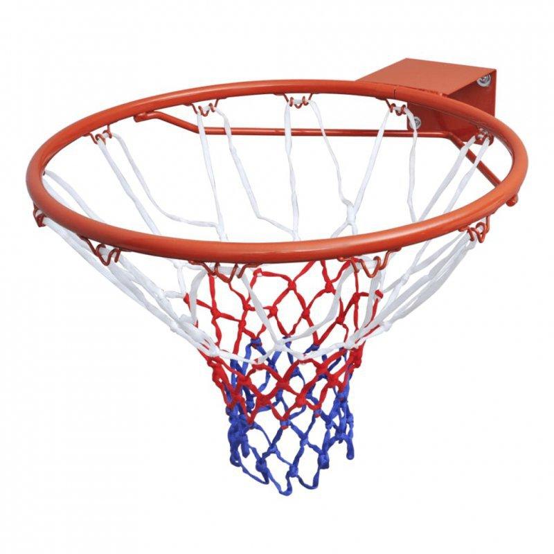 Zestaw do koszykówki, obręcz z siatką, pomarańczowy, 45 cm