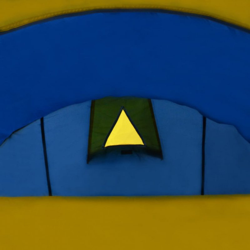 Namiot 4 osobowy granatowy / żółty
