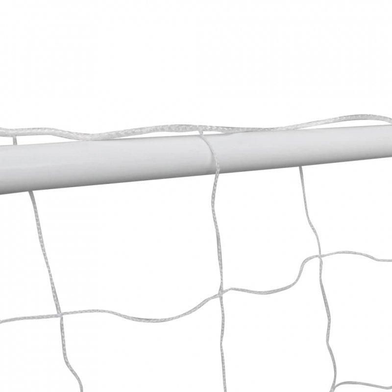 Bramka piłkarska z siatką, 182 x 61 x 122 cm, stalowa, biała