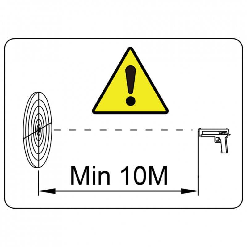 Magnetyczne cele strzelnicze z kulochwytem, 4+1, wzór w kaczki