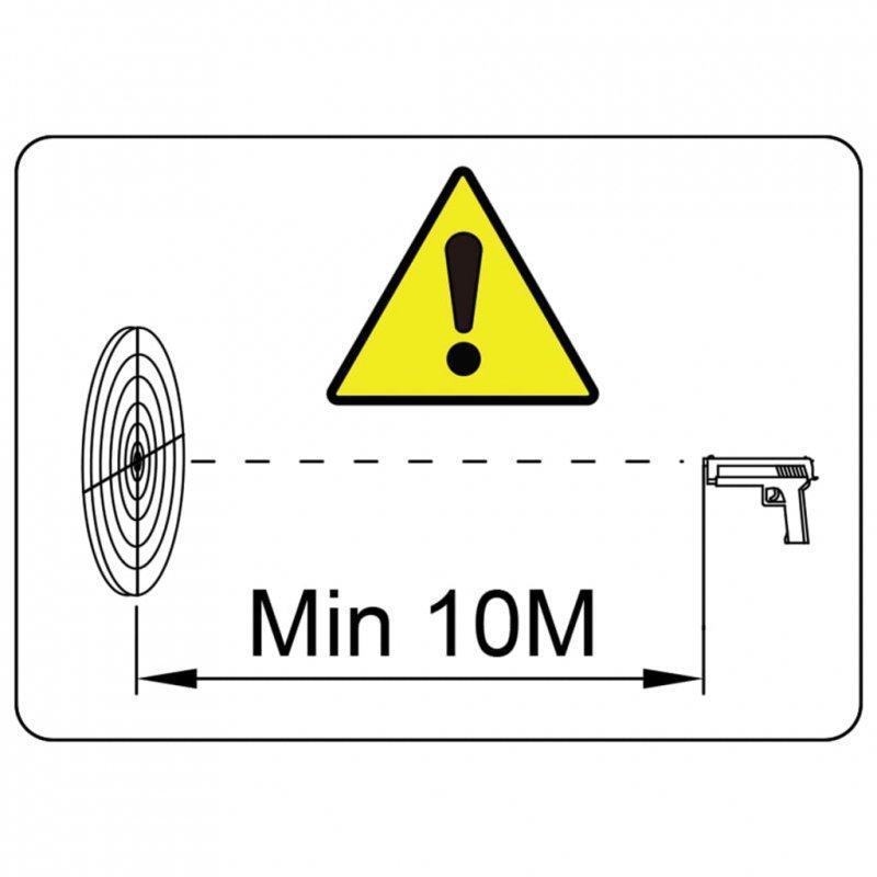 Magnetyczne cele strzelnicze z kulochwytem, 4+1, wzór w zombie