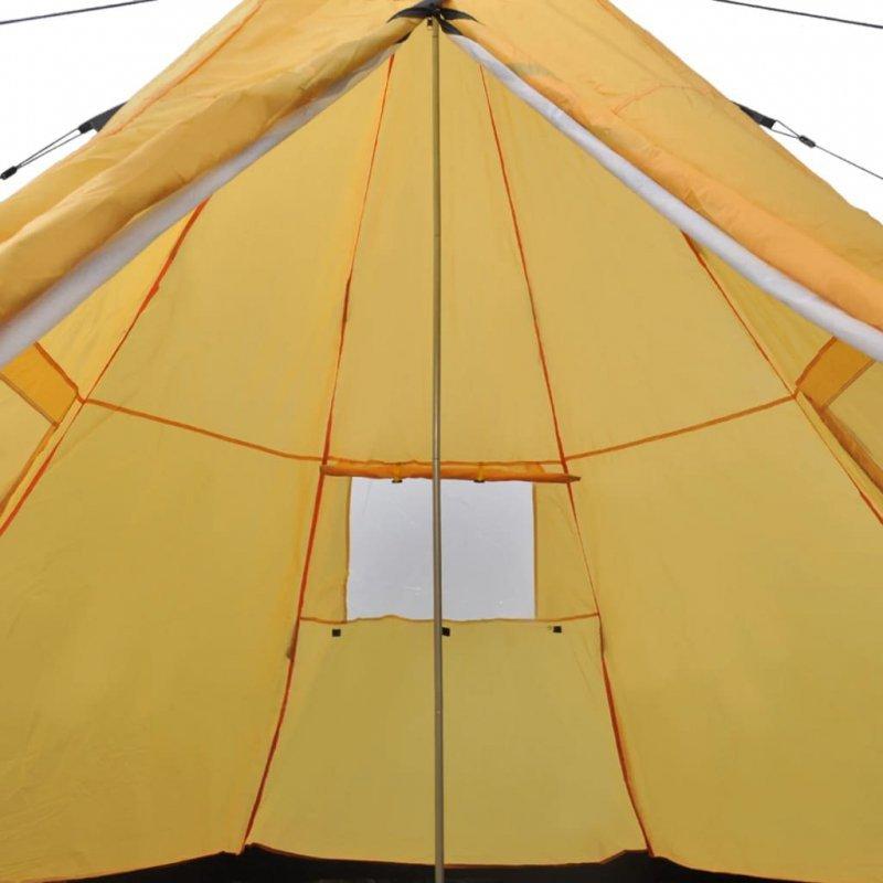 Namiot 4-osobowy, żółty
