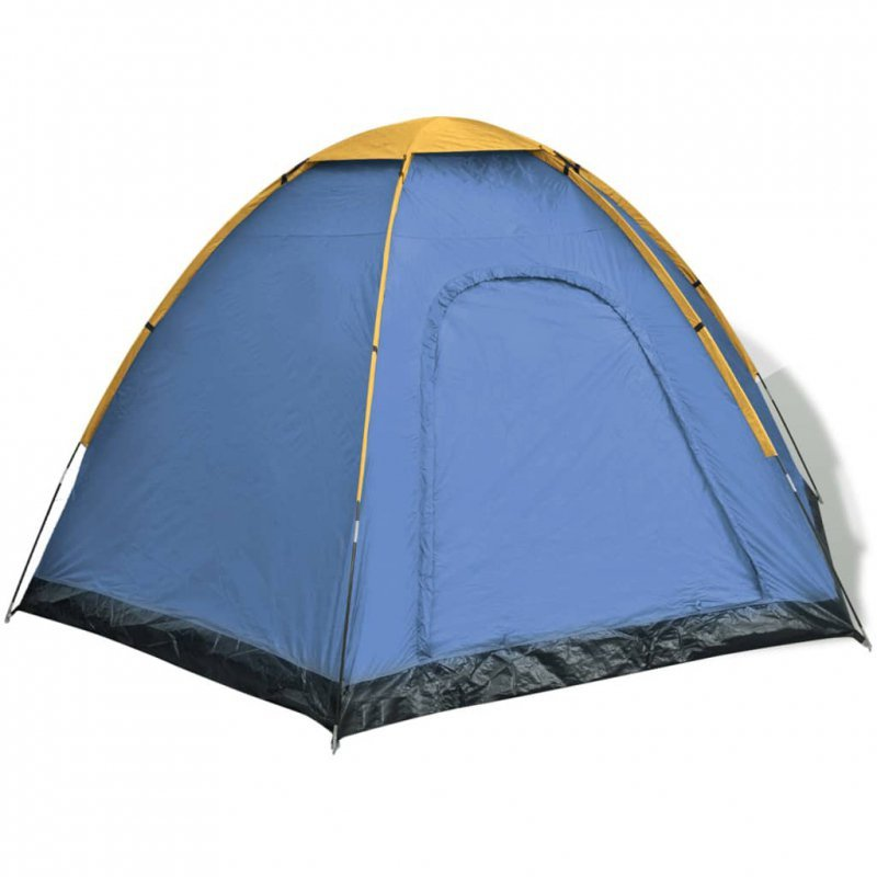 Namiot 6-osobowy, niebiesko-żółty
