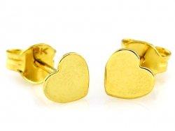 Kolczyki SERCA pełne sztyft złoto 333