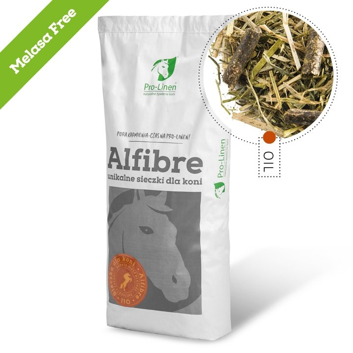 ALFIBRE OIL MELASA FREE  15kg (sieczka dla koni) Pro-linen