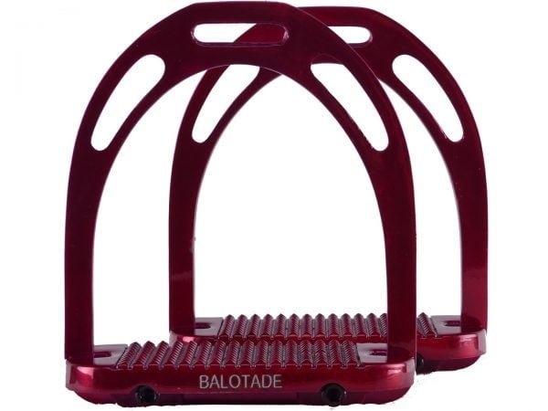 Strzemiona aluminiowe Balotade® Solid czerwone
