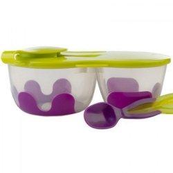 Pojemnik podwójny na żywność, fioletowo-zielony