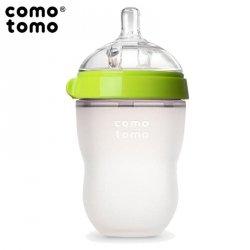 Antykolkowa butelka silikonowa MOM'S BREAST 250 ml Green BABY