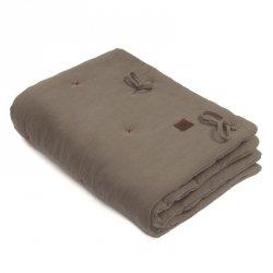 Kołderka z podusią i Rożek z oddychającej bawełny organicznej GOTS QUILT BABY HORN Dark Oak