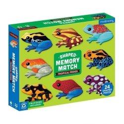 Gra Memory Tropikalne żaby z elementami w kształcie żab 24 elementy