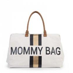 Torba Mommy Bag, paski czarno-złote