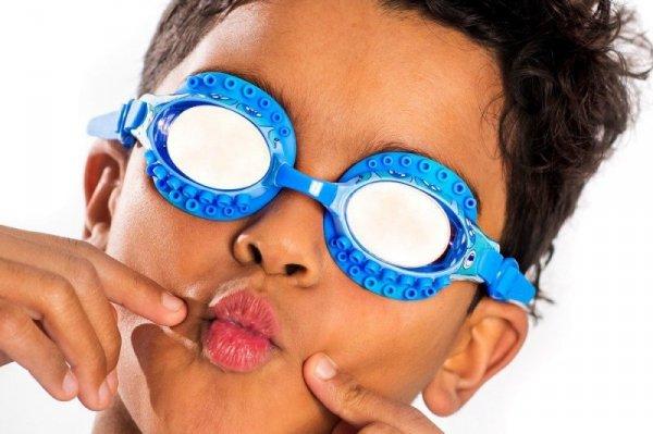 Okulary do pływania, Ośmiornica, Niebieskie, 3+