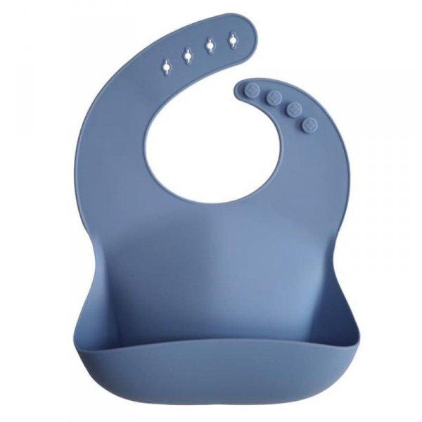 Śliniak silikonowy Powder Blue