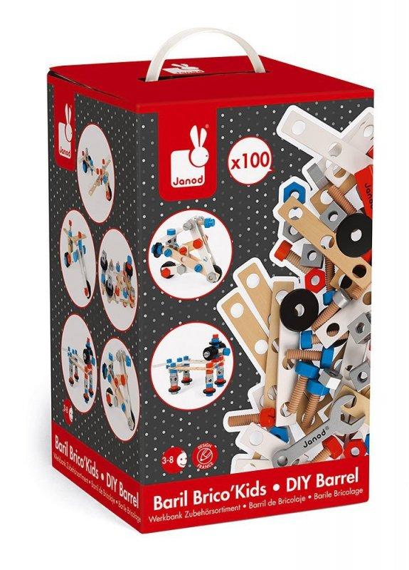 Zestaw konstruktora 100 elementów Brico 'Kids