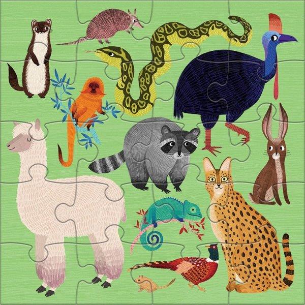 Puzzle magnetyczne Zwierzęta lądowe i wodne