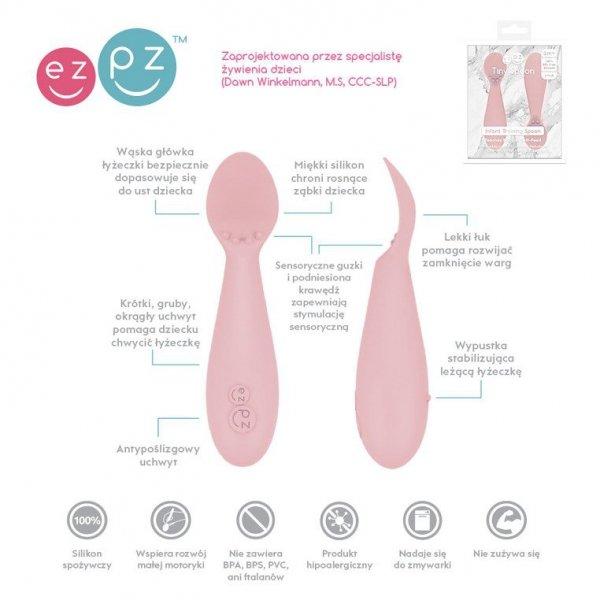 Silikonowa łyżeczka Tiny Spoon 2 szt. pastelowy róż