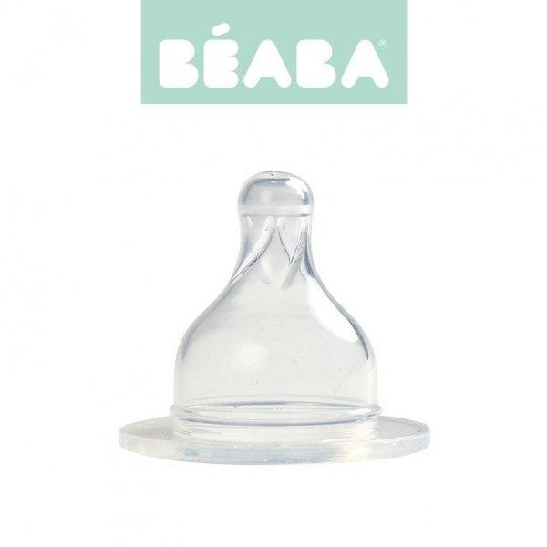 Zestaw 2 smoczków do butelek szerokootworowych, szybki przepływ, kaszka