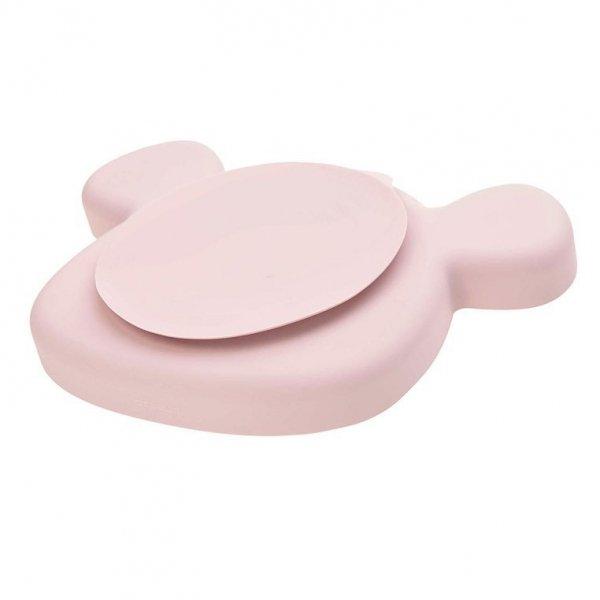 Talerz silikonowy z przyssawką Little Chums Mysz różowy