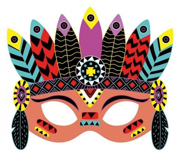 Zestaw kreatywny Do zdrapywania Maski karnawałowe