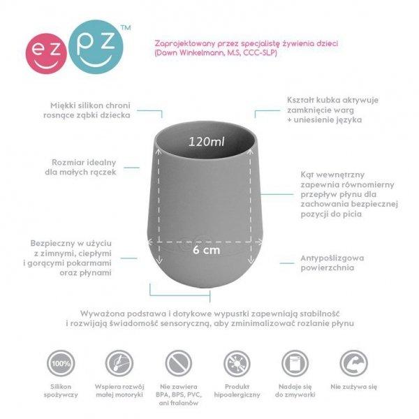 Silikonowy kubeczek Mini Cup 120 ml szary