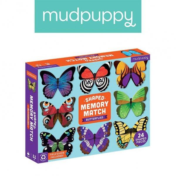Gra Memory Motyle z elementami w kształcie motyli 24 elementy