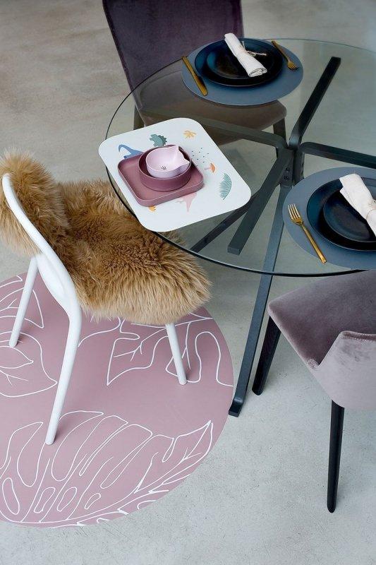 Mata ochronna podłogowa okrągła Clean Wean Mat Ammil Jungle Nude Pink