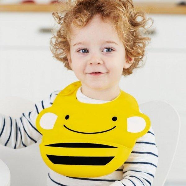 Śliniak silikonowy Zoo Pszczoła