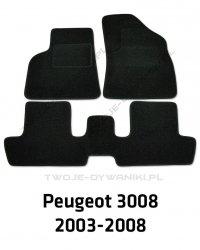 Dywaniki welurowe Peugeot 3008