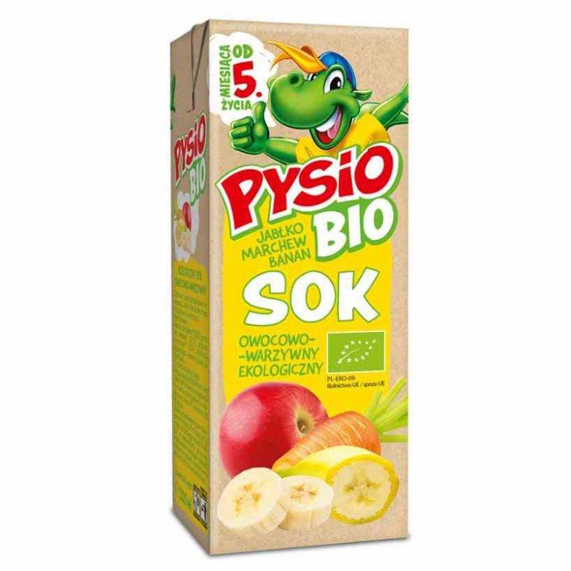 Sok jabłko-marchew-banan PYSIO BIO, 200ml