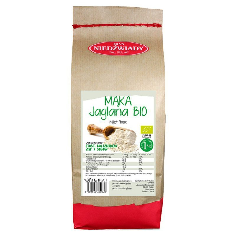 Mąka jaglana Młyn Niedźwiady BIO, 1kg