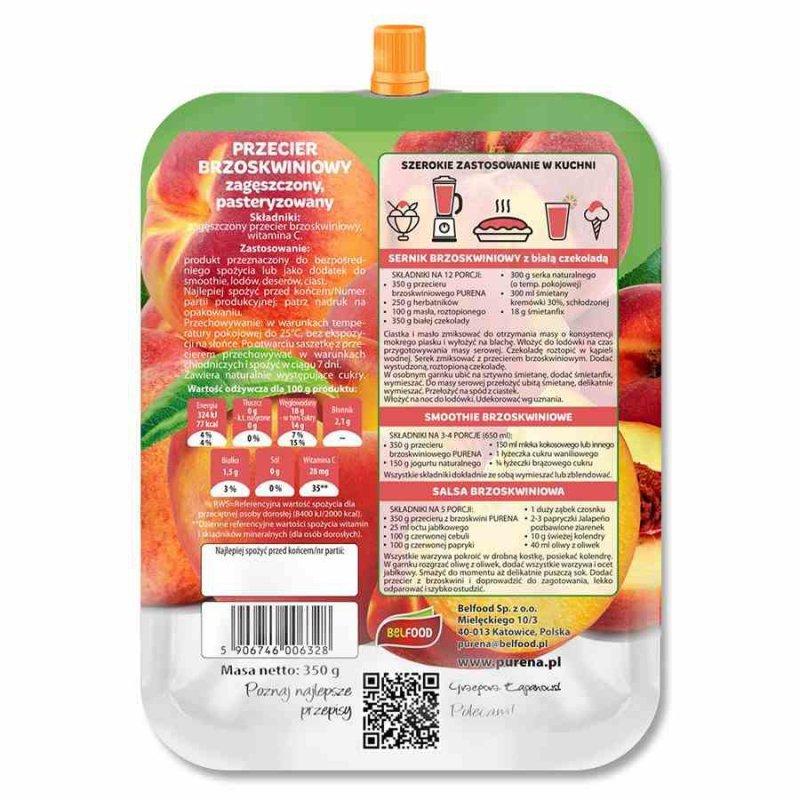 Przecier brzoskwiniowy 100% Purena, 350g