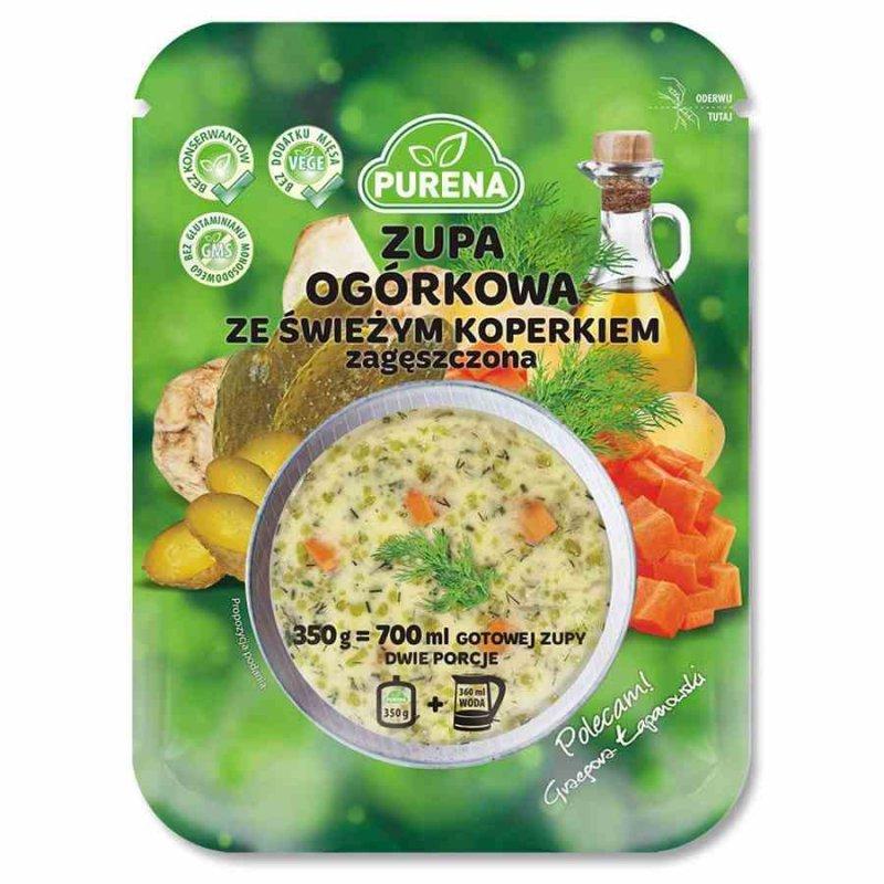 Zupa ogórkowa ze świeżym koperkiem, zagęszczona Purena, 350g