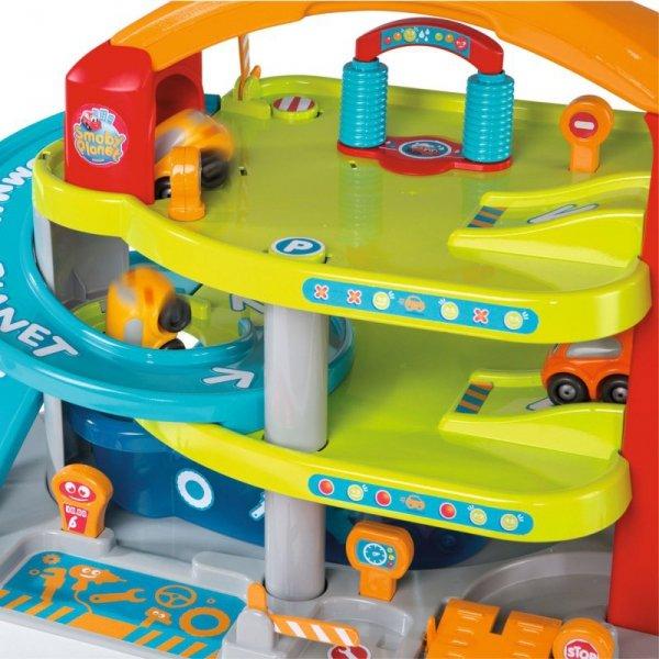 SMOBY Vroom Planet Wielki Garaż Myjnia Stacja Benzynowa Autko