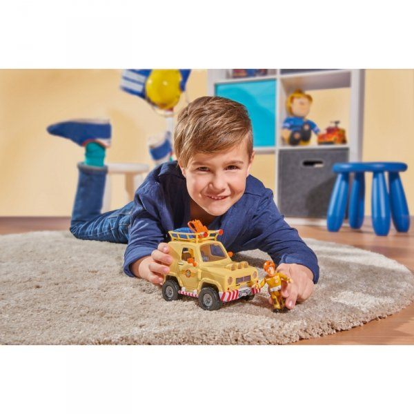 Simba Strażak Sam Jeep Ratunkowy 4x4 z Figurką Sama