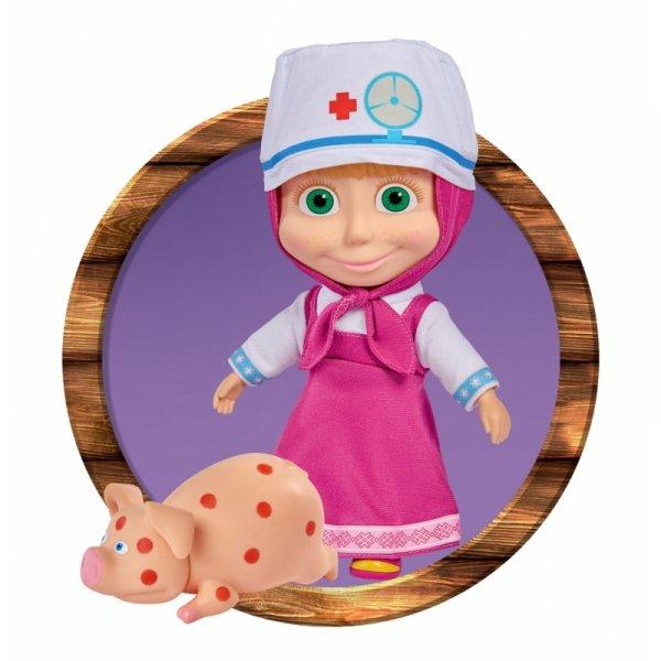 Simba Lalka Masza w Stroju Doktora z Chorą Świnką