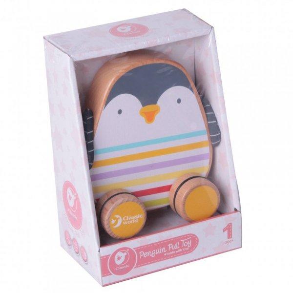 CLASSIC WORLD Drewniany Pingwin Do Ciągania