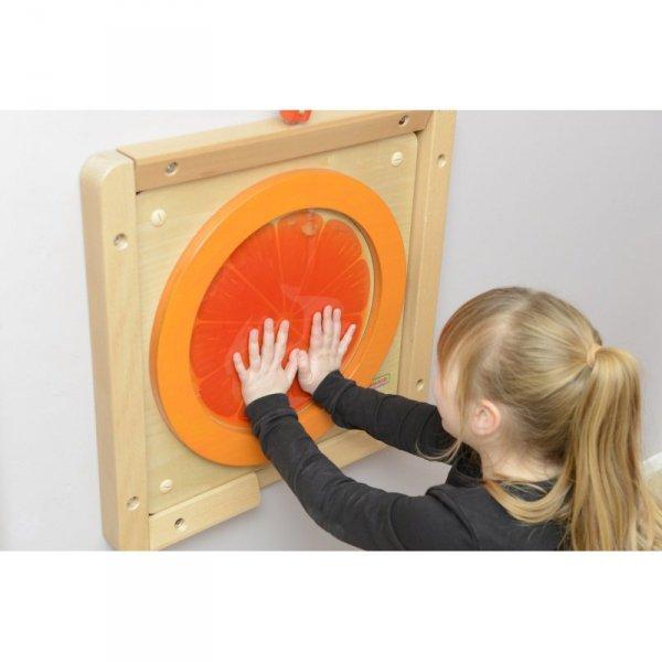 MASTERKIDZ Tablica Edukacyjna Sensoryczna Pomarańcza
