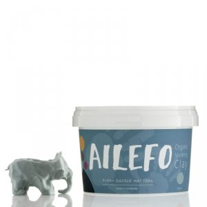 Ailefo, Organiczna Ciastolina, duże opakowanie, niebieski, 540g