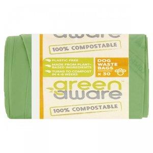 GreenAware, Kompostowalne worki na psie odpady, 30 szt.