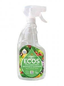 ECOS, Płyn do mycia owoców i warzyw, 650ml