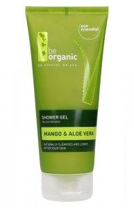 Be Organic, Żel pod prysznic, Mango i Aloes, 200ml