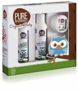 Pure Beginnings Organic Baby, Zestaw Podstawa pielęgnacji Malucha, 3szt.