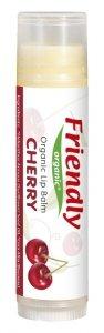 Friendly Organic, Organiczny balsam do ust Wiśniowy, 4,25g