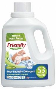 Friendly Organic, Płyn do prania ubranek dziecięcych Bezzapachowy, 1567 ml, 53 prania